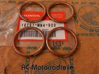 Honda CB 400 F CB-1 Krümmerdichtung Auspuff Dichtringe Set Gasket Header Orig