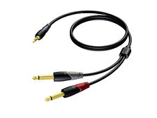 Procab Classic Mini Jack Male Stereo to 2 x Jack Male Mono Cable 1,5 m