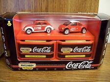 COCA-COLA  2 CAR SET MATCHBOX 1962 VW BEETLE & COKE 1998 VW CONCEPT 1 VW BUG