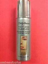 Sally Hansen Fast and Flawless Airbrush Foundation NUDE SHADE NEW.