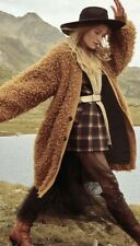 Free People Mongolian Faux Fur Teddy Longline Cardi Coat XS $298