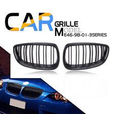 Carbon Fiber Style Front Bumper Kidney Grille For BMW E92 E93 328i 335i 07-10