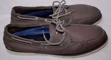 Sperry Top-Sider Boat Shoe Leeward 2-eye Leather Gray 12M 61626 STS10844 NICE!!