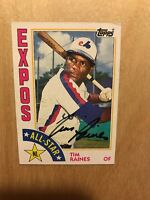 Tim Raines Autograph Signed 1984 Topps AS Card # 390 HOF