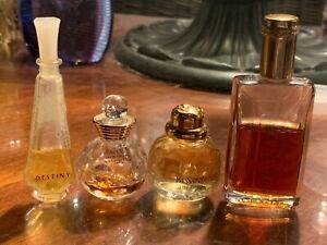 4 Vintage Mini Splash Perfume Estee Lauder Yves Saint Laurent Dolce Vita