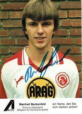 MANFRED BOCKENFELD - original signierte Autogrammkarte - Fortuna Düsseldorf 80er