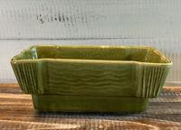 Vintage Mid Century Brush Pottery Green Glazed Planter USA F562