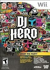 Wii DJ Hero Games Preowned 2009 Start the Party Scratch & Mix Hottest Hits