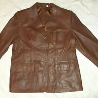 Preston & York /Brown Soft Lamb Skin Leather Jacket Women's XL