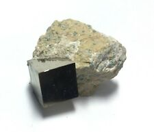 Pyrite Cube in Matrix from Spain