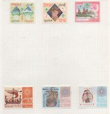 Qatar 6 stamps mh 1967 1d 2d 3d Scouting 1d 2d 3d Famous Sailors (bk5)