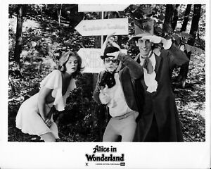 Alice In Wonderland 1976 Set of 8 BW Glossy Photos Adult Musical Kristine DeBell