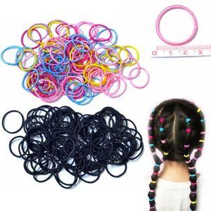 1/50 Mini Children Baby Girls Elastic Hair Bands Bobbles Colours Hair Elastic