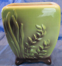 """1940's Royal Copley Sea Fern Decorated 5 3/4"""" High Pottery Planter"""