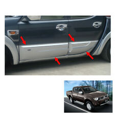 Body Cladding Trim Guard Silver 4 Pc Fit Mitsubishi L200 Triton 4 Dr 2006 - 2014