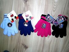 BOY GIRL KIDS OFFICIAL MICKEY MOUSE MONSTER HIGH 1 PAIR MAGIC GLOVES One size