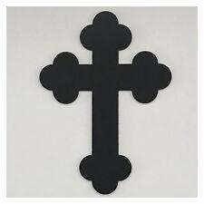 Cross Black Plastic Acrylic Religious Decor Boho Vintage Decor Wall - Vintage
