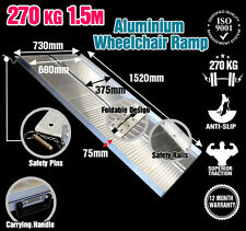 Wheelchair Ramp 1.5M Aluminium Folding Mobility Scooter Portable Loading Ramps