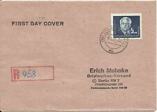 EAST GERMANY, FDC, MICHEL # 255, YEAR 1950, TOP VALUE PIECE, PLEASE SEE THE PICS