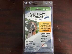 Sentry Fiproguard Plus for Dog 23-44 pounds 3 Pack - New