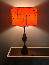 Mid Century Vintage Style Fiberglass Lamp Shade Modern Atomic Starburst Orange