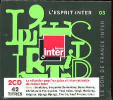 L'ESPRIT INTER 03 - FRANCE INTER RADIO - 2 CD COMPILATION NEUF SOUS CELLO