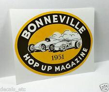 Bonneville 1951 Vintage Style DECAL, vinyl STICKER, rat rod, hot rod, racing