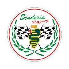 Sticker plastifié ALFA ROMEO Scuderia Racing - 6cm x 6cm