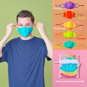 5PCS bright Reusable Cloth Face Mask Set Kids Masks For Kids