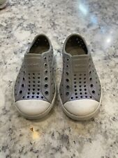 Native toddler shoes Grey Sparkle