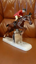 Hertwig &Co Katzhütte Porzellanfigur-Turnierreiter-Pferd Porcelain figur horse-