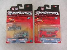 Transformers Robots in Disguise ~ Optimus Prime & X-Brawn/Scourge ~ 2001 Hasbro