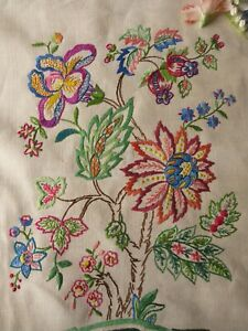 VINTAGE HAND EMBROIDERED PICTURE PANELS - BEAUTIFUL ART NOUVEAY DESIGN