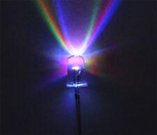 100 led 5 mm RGB 2pin multicolore FLASH Veloce Rainbow ROSSO VERDE BLU