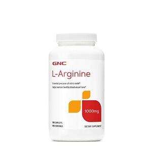 GNC L-Arginine 1000mg 180 Caplets