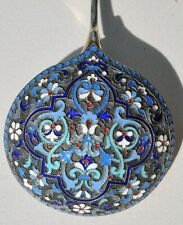 RUSSIAN IMPERIAL SILVER ENAMEL ROYAL SPOON KOVSH BOWL CUP LADLE GOLD SILVERWARE