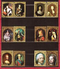 TCHAD Portrait des rois de France 1971/73  paires N° C232 c-d-e-f-g-h   551A214B