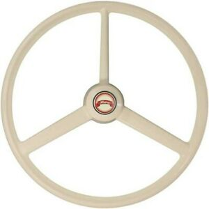 """20"""" Retro white ivory steering wheel cabover conventional truck semi universal"""