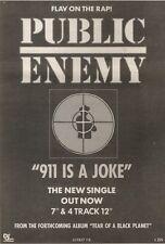 31/3/90Pgn24 Advert: Public Enemy 911 Is A Joke New Single On Def Jam 10x7