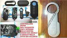 COVER CHIAVE COMPLETA NERA FIAT 500 BRAVO GRANDE PUNTO EVO + SET TASTI BIANCHI