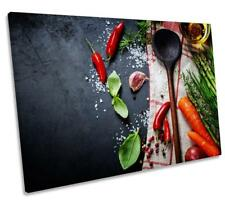 Chilli Kitchen Slate Cooking CANVAS WALL ART DECO LARGE READY TO HANG all sizes