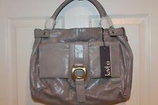 NEW! NWT! KOOBA Gray Snake Leather ANYA EXOTIC Lg Satchel Handbag $578