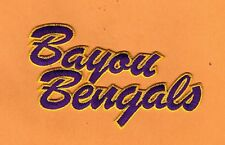 """LSU TIGERS BAYOU BENGALS 5 1/2"""" IRON ON FULLY STITCHED PATCH JACKET JERSEY BAGS"""