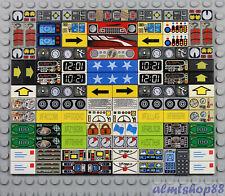 LEGO - Printed Tiles - PICK YOUR DESIGN - 1x1 1x2 1x4 Rectangular Square Flat
