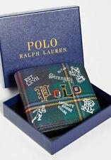 Polo Ralph Lauren Mens Bifold Wallet Preppy Polo Tartan - NEW - RRP £115