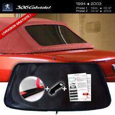 Lunette arrière PEUGEOT 306 Cabriolet TEINTÉE NOIRE RARE envoi gratuit