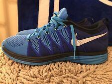 Nike Flyknit Lunar 2, Vivid Blue White Game Royal, 620465-414, Men's Size 12