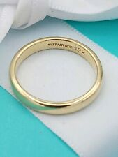 TIFFANY & Co. 18K Gold 3mm Classic Band Ring in VG Condition Size K / 50/ 5 1/2
