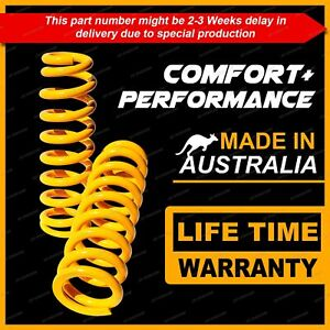 2 Front King Raised Comfort Suspension Coil Springs for ISUZU D MAX 4WD 2012-On