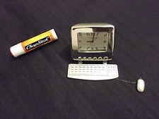 Rare PC Computer Keyboard and mouse Clock Decor + 3 Batteries